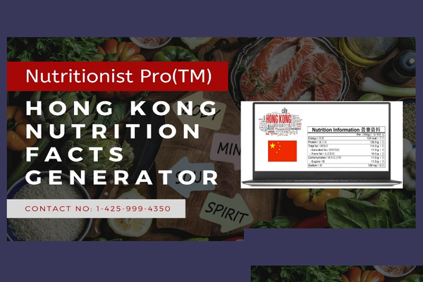 Hong Kong Nutrition Facts Generator